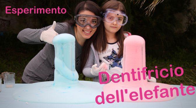 Esperimento per bambini. Il dentifricio dell'elefante